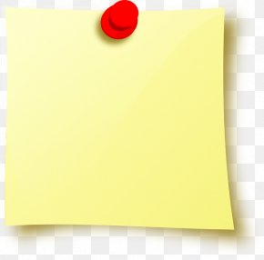 Sticky Note - Post-it Note Drawing Pin Icon PNG