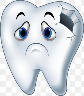 Holes In The Teeth - Tooth Decay Cartoon Human Tooth PNG