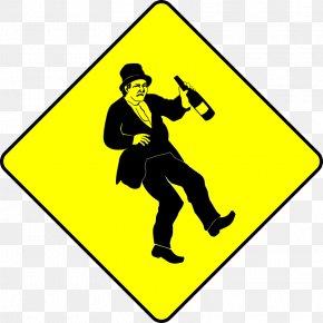 Drunk Man Cartoon - Pedestrian Crossing Traffic Sign Traffic Light Clip Art PNG