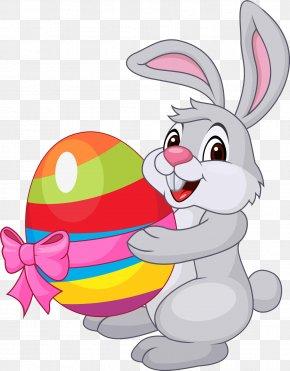 Bunny Holding Egg - Easter Bunny Easter Egg Rabbit PNG