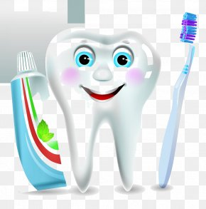 Cartoon Tooth Toothbrush Toothpaste - Electric Toothbrush Toothpaste Dentistry PNG