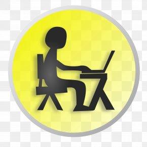 Yellow Laptop Cliparts - Laptop Job Computer Clip Art PNG