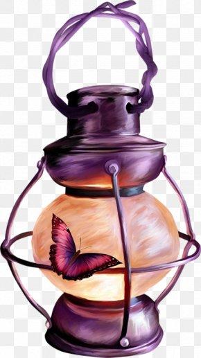 Butterflies And Oil Lamp - Light Fanous Oil Lamp Ramadan Lantern PNG