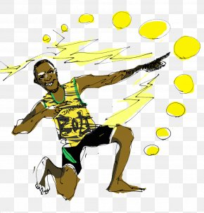 Usain Bolt - Team Sport Ball Sporting Goods PNG