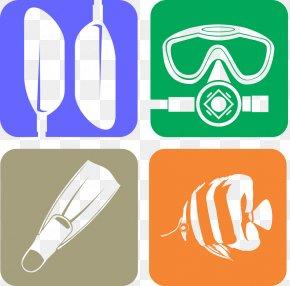 Diving Logo Icons - Diving Equipment Scuba Diving Underwater Diving Snorkeling Scuba Set PNG
