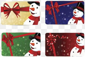 Christmas Snowman Greeting Card Design - Christmas Snowman Greeting Card PNG