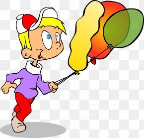 Clip Art - Cartoon Running Boy Clip Art PNG