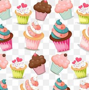Cake - Cupcake Muffin Birthday Cake Pattern PNG