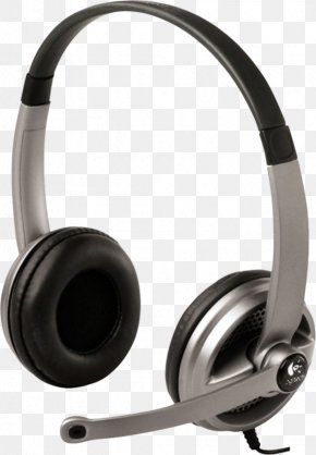 A Pair Of Headphones - Headphones Microphone Headset Logitech Audio Equipment PNG