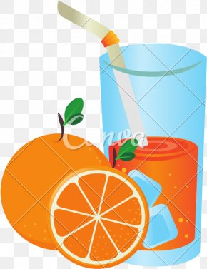 Drinking Summer Cartoon Orange Juice - Orange Juice Fruit Illustration PNG