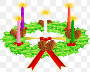 Church Candles - Advent Wreath Christmas Advent Sunday Clip Art PNG