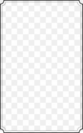 White Border Frame Transparent Image - Text Box PNG