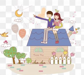 Cartoon Couple - Cartoon Stock Illustration Illustration PNG