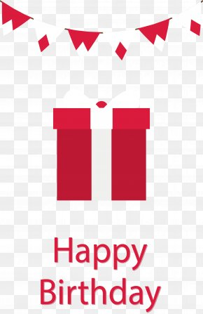 Red Exquisite Birthday Present - Birthday Cake Greeting Card Wish Happy Birthday To You PNG