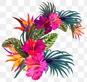 Bouquet Artificial Flower - Bouquet Of Flowers Drawing PNG