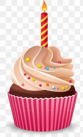 Birthday Cake - Cupcake Birthday Cake Cream Muffin PNG