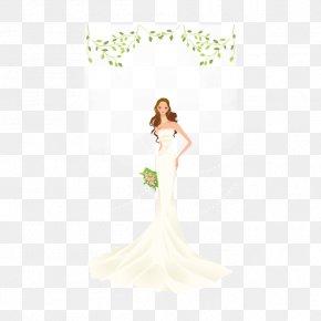 Wedding - Wedding Dress Bride Ivory Gown PNG