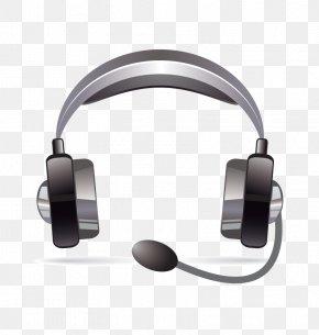 Vector Black Headphones - Headphones PNG