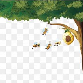 Vector Bee Hive - Beehive Honey Bee Euclidean Vector PNG