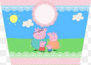 PEPPA PIG - Daddy Pig Mummy Pig Party Paper Convite PNG