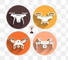 Flat UAV - Airplane Unmanned Aerial Vehicle Flat Design PNG
