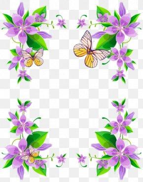 Flower - Borders And Frames Flower Floral Design Purple Clip Art PNG