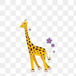 Giraffe - Giraffe T-shirt Roller Skating Humour Ice Skating PNG