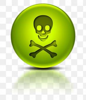 Skull - Hazard Symbol Skull And Crossbones Poison Toxicity PNG