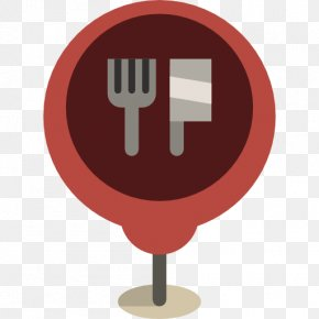 Kitchen Knife On A Chair - Locator Map Flag Location Icon PNG