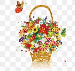 Floral Decoration - Flower Basket Stock Photography Clip Art PNG