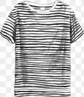 Striped T-Shirt - T-shirt Sailor Sleeve Telnyashka PNG