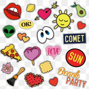 Various Cartoon Stickers Vector - Badge Stock Illustration Clip Art PNG