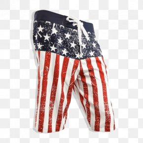 Us Independence Day - Flag Of The United States Boardshorts Trunks Swimsuit PNG