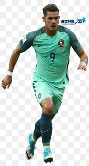Football - André Silva Portugal National Football Team Soccer Player Jersey Rendering PNG