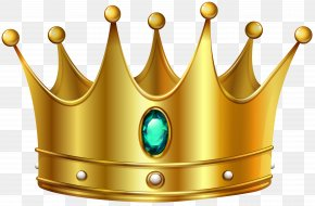 Gold Crown With Diamond Clip Art Image - Gold Crown Clip Art PNG