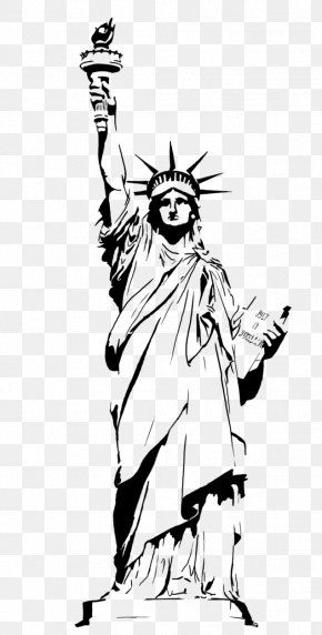 Statue Of Liberty Drawing Outline - Statue Of Liberty Drawing Clip Art PNG