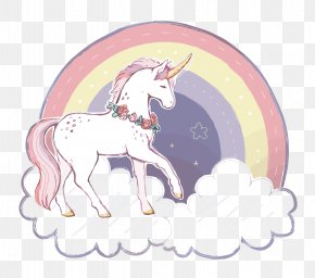 Vector Rainbow Unicorn - Unicorn Rainbow Clip Art PNG