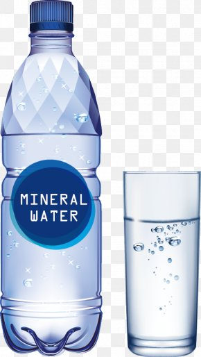Vector Painted Mineral Water - Bottled Water Water Bottle Mineral Water PNG