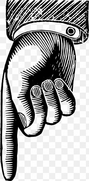 Down Arrow - Index Finger Fingerprint Clip Art PNG