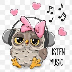 Big Eyes Owl Songs - Owl Cartoon Drawing PNG
