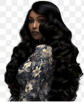 Long Hair - Artificial Hair Integrations Lace Wig Hairstyle Wave PNG