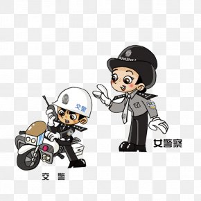 Policewoman - Cartoon Police Officer PNG