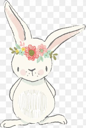 Easter - Easter Bunny Clip Art Watercolor Painting Illustration PNG