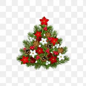 Christmas Elements - Christmas Tree Santa Claus Clip Art PNG