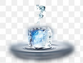 Creative Ice Particles On Ice - Ice Cube Water Creativity PNG