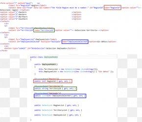 Dropdown List - Web Page ASP.NET MVC ADO.NET ActiveX Data Objects PNG