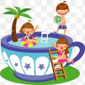 Cartoon Cute Children Mug - Child Summer Royalty-free Clip Art PNG