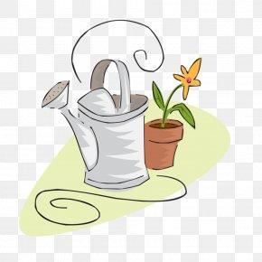 Easy Flower Pot - Clip Art Illustration Image Design PNG