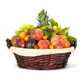 Gift - Basket Of Fruit Food Gift Baskets Vegetarian Cuisine PNG