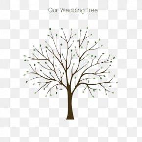 Tree Of Life - Guestbook Wedding Fingerprint Tree PNG